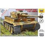 Zvezda 1:72 Tiger I German Tank 5002 harcjármű makett