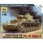 Zvezda 1:100 Pz IV Ausf. D 6151 harcjármű makett