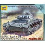 Zvezda 1:100 German Tank Panzer III 6119 harcjármű makett