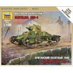 Zvezda 1:100 British Light Tank ´Matilda´ MK 6191 harcjármű makett