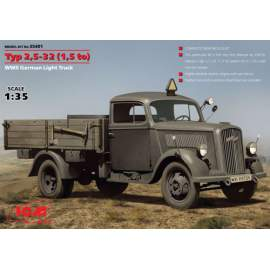 ICM - 1:35 Typ 2,5-32 (1,5 to), WWII German Light Truck (Opel Blitz)