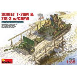 Miniart 1:35 Russian T-70M with ZiS-3 field gun and crew