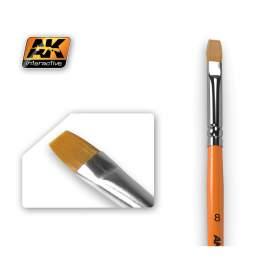 Flat Brush 8  (8-as méretű szintetikus lapos ecset)