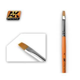 Flat Brush 4 (4-es méretű szintetikus lapos ecset)