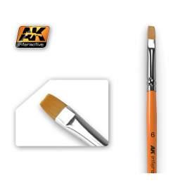 Flat Brush 6  (6-os méretű szintetikus lapos ecset)