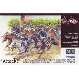 Masterbox US Civil War Series:The Attack of the 8th Pennsylvania Cavalry