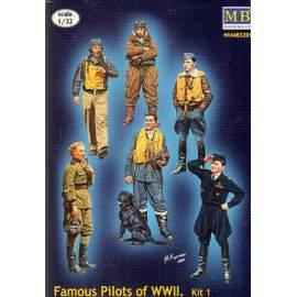 Master Box 1:32 - Famous pilots of WWII. Kit no.1. figura makett