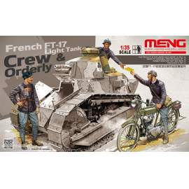 Meng Model 1:35 - French FT-17 Light Tank Crew & Orderly