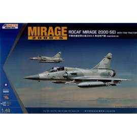 Kinetic 1:48 Dassault Mirage 2000-5 EI ROCAF with Tow Tractor