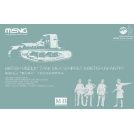 Meng Model 1:35 British Medium Tank Mk.A Whippet&British Infantry