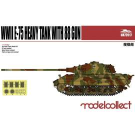 Modelcollect 1:72 Germany WWII E-75 Heavy Tank with 88mm Gun