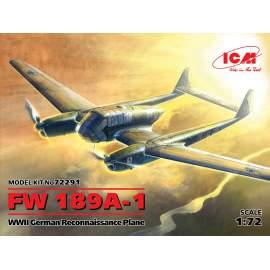 ICM 1:72 Focke-Wulf Fw 189A-1 WWII German Reconnaissance Plane