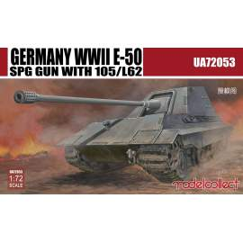 Modelcollect 1:72 Germany WWII E-50 SPG GUN with 105/L62