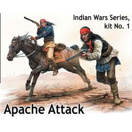 Masterbox 1:35 Indian Wars Series, kit No. 1. Apache Attack