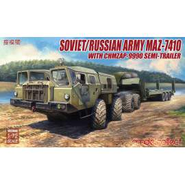 Modelcollect 1:72 Soviet/Russian Army MAZ-7410 w.ChMZAP- -9990 semi-trailer