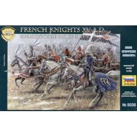Zvezda 1:72 French knights (19 figures)