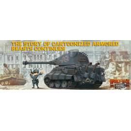 Meng Model - German Heavy Tank King Tiger (Porsche Turret) (cartoon model)