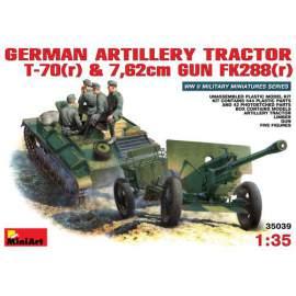 Miniart 1:35 German Artillery Tractor T-70(r) towing 76,2mm FK 288(r)