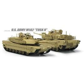 Academy 1:35 M1A2 TUSK II US Army Tank V2 harcjármű makett