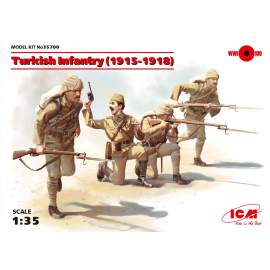 ICM 1:35 Turkish Infantry (1915-1918) (4 figures) figura makett