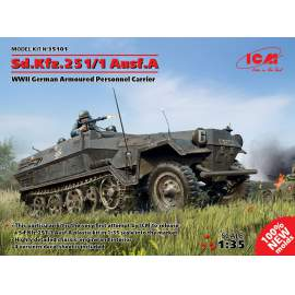 ICM 1:35 Sd.Kfz.251/1 Ausf.A WWII German Armoured Personnel Carrier
