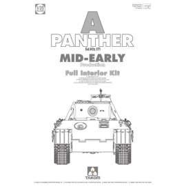 Takom 1:35 Sd.Kfz.171 Panther A Mid-Early with interior harcjármű makett