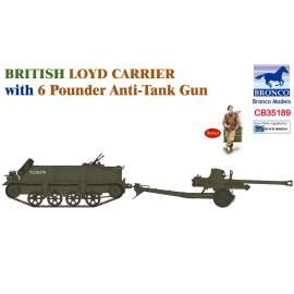 Bronco 1:35 British Loyd Carrier with 6 Poundener Anti-Tank Gun
