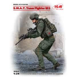ICM 1:24 S.W.A.T. Team Fighter #3 figura makett