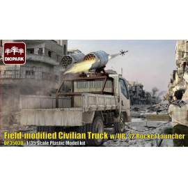 Diopark 1:35 Filed-Modified Civilian Truck with UB-32 Rocket Launcher