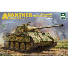 Takom 1:35 Panther Ausf.A mid/late full Interior, Zimmerit