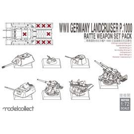 Modelcollect 1:72 WWII Germany landkreuzer P1000 ratte weapon set pack