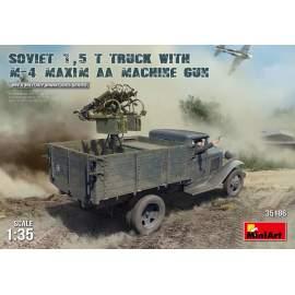 Miniart 1:35 Soviet 1,5 t Truck w/ M-4 Maxim AA Machine Gun