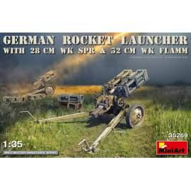Miniart 1:35 German Rocket Launcher with 28cm WK Spr & 32cm WK Flamm