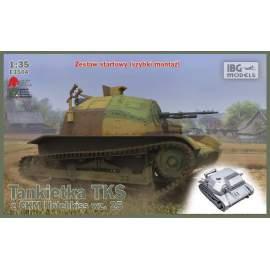 IBG Model 1:35 TKS Polish Tankette with machine gun (incl quick build track