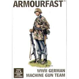 Armourfast 1:72 WWII Late German (WWII) Machine Gun Team figura makett