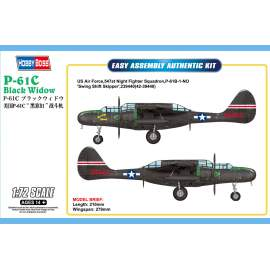 Hobbyboss 1:72 US P-61C Black Widow repülő makett