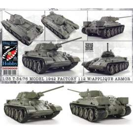 AFV-Club 1:35 T34-76 Model 1942 & Applique Armor harcjármű makett