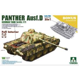 Takom 1:35 Panther D early/mid - Ful Interior-transparent hull