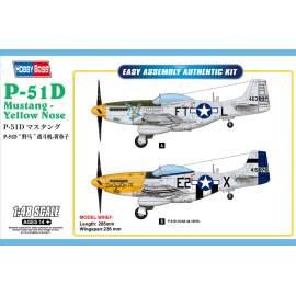 Hobbyboss 1:48 P-51D Mustang-Yellow Nose repülő makett