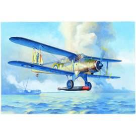 Trumpeter 1:48 Fairey Albacore Torpedo Bomber repülő makett