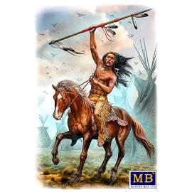 """Masterbox 1:24 Buffalo Hunter. Running Bear"""" figura makett"""