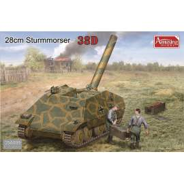 Amusing Hobby 1:35 28cm Sturmmörser auf Panzer 38D harcjármű makett