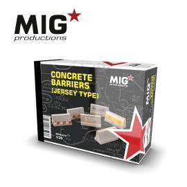 MIG Productions 1:35 Concrete barriers (jersey type)