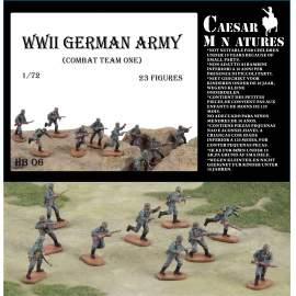 Caesar Miniatures 1:72 German Infantry (WWII) Army Combat Team 1