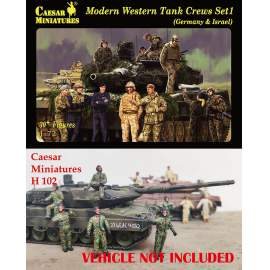 Caesar Miniatures 1:72 Modern Western Tank Crews Set 1 (Germany & Israel)
