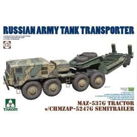 Takom 1:72 MAZ-537G TRACTOR w/CHMZAP-5247G trailer
