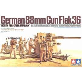 Tamiya 1:35 88mm Gun flak36 North Africa harcjármű makett