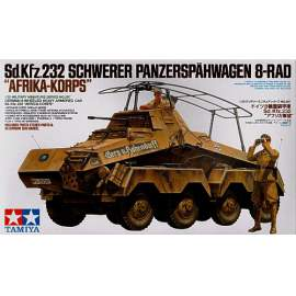 Tamiya 1:35 Sd.Kfz. 232 Africa-corps harcjármű makett