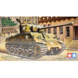 Tamiya 1:35 M4A3E8 Sherman Easy Eight Euro Theater harcjármű makett
