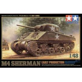Tamiya 1:48 M4 Sherman early production harcjármű makett